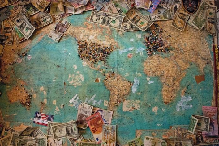 Mappamondo Inviare denaro all'estero