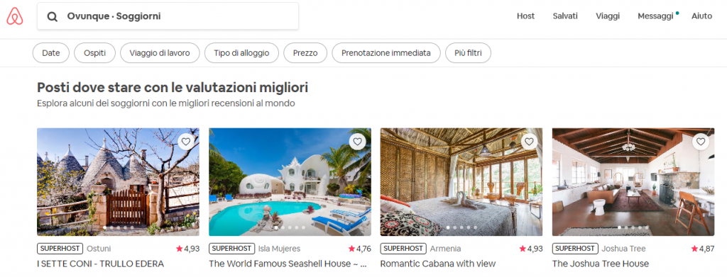 Affitti Airbnb Inserzioni